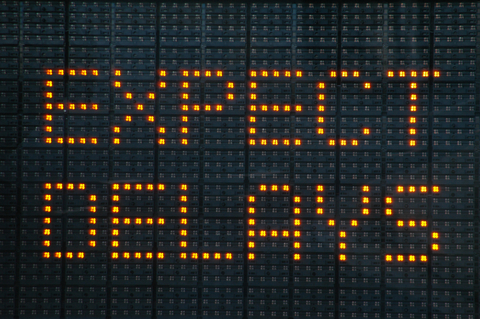 Expect Delays Sign Photo